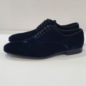 Giorgio Armani blue suede men's dress shoes size 9